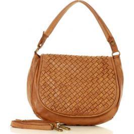 Hnědá kožená kabelka MARCO MAZZINI (v6a) Velikost: univerzální
