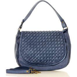Modrá kožená kabelka MARCO MAZZINI (v6b) Velikost: univerzální