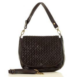 Černá kožená kabelka MARCO MAZZINI (v6c) Velikost: univerzální