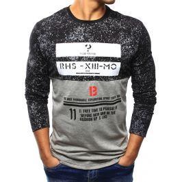 BASIC Pánské černé tričko s potiskem (lx0411) velikost: 2XL, odstíny barev: černá