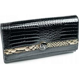 4U CAVALDI CAVALDI dámská kožená černá peněženka  H22-2-RSD BLACK-GOLD Velikost: univerzální