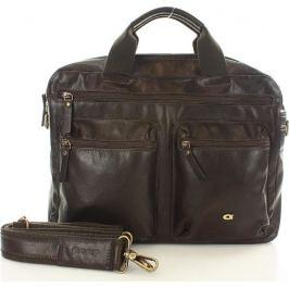 DAAG Hnědá kožená taška na notebook take away  (dg71a) Velikost: univerzální