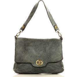 MARCO MAZZINI šedá kožená kabelka (V11b) Velikost: univerzální