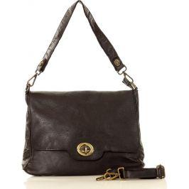 MARCO MAZZINI černá kožená kabelka (v11d) Velikost: univerzální