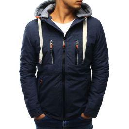 BASIC Pánská bunda s kapucí  (tx1896) velikost: XL, odstíny barev: modrá