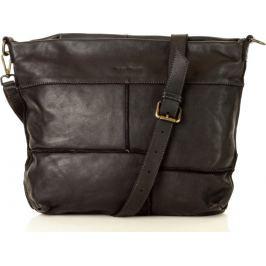 MARCO MAZZINI černá kožená kabelka (v22a) Velikost: univerzální