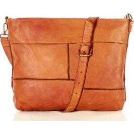 MARCO MAZZINI hnědá kožená kabelka (v22b) Velikost: univerzální