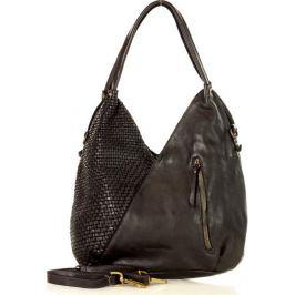 MARCO MAZZINI černá kožená kabelka (v29a) Velikost: univerzální
