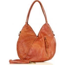 MARCO MAZZINI hnědá kožená kabelka (v29b) Velikost: univerzální