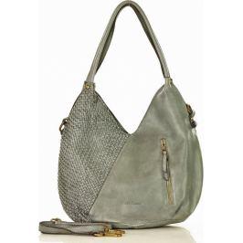 MARCO MAZZINI šedá kožená kabelka (v29c) Velikost: univerzální