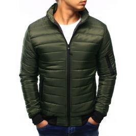 BASIC Pánská zelená prošívaná bunda (tx1919) velikost: M, odstíny barev: zelená