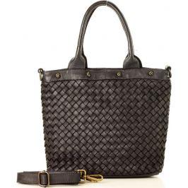 Černá shopper kabelka MARCO MAZZINI (v33a) Velikost: univerzální
