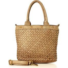 Khaki shopper kabelka MARCO MAZZINI (v33c) Velikost: univerzální