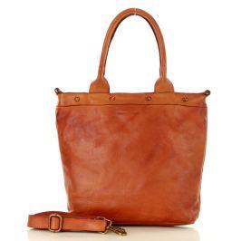 Hnědá shopper kabelka MARCO MAZZINI (v34c) Velikost: univerzální