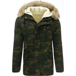 BASIC Maskáčová pánská zimní bunda (tx1748) velikost: M, odstíny barev: zelená