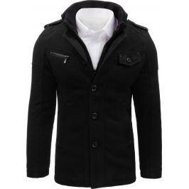 BASIC Pánský černý kabát (cx0364) velikost: M, odstíny barev: černá