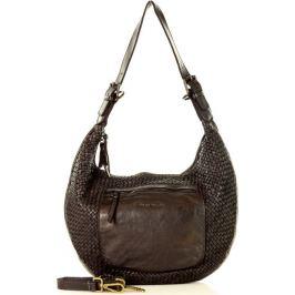 MARCO MAZZINI Černá kožená shopper kabelka  (v37a) Velikost: univerzální