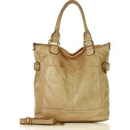 Khaki kožená kabelka MARCO MAZZINI  (v7h) Velikost: univerzální
