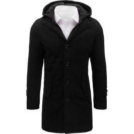 BASIC Pánský černý kabát (cx0370) velikost: XL, odstíny barev: černá