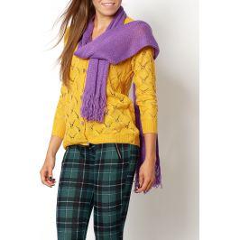 Dámský fialový šál KOM1 velikost: univerzální, odstíny barev: fialová