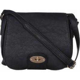 BASIC Černá kabelka se zlatou sponou - HBFB100 Velikost: univerzální