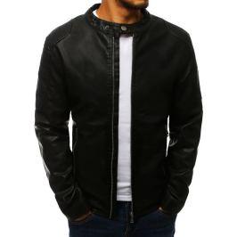BASIC Pánská černá koženková bunda (tx2708) Velikost: M