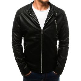 BASIC Pánská černá koženková bunda (tx2710) Velikost: M