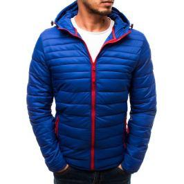 BASIC Modrá přechodová bunda s červeným zipem (tx2717) Velikost: M