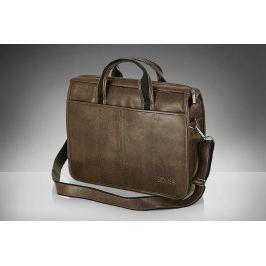 SOLIER Tmavě hnědá pánská taška na rameno (S13 DARK BROWN) Velikost: univerzální