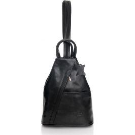 VERA PELLE Módní dámský černý batoh MORENA CLASSIC (Pl2a) Velikost: univerzální