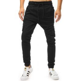 BASIC Černé pánské kalhoty (ux1996) Velikost: M