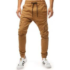 BASIC Hnědé pánské kalhoty (ux1997) Velikost: M