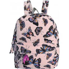 BASIC Růžový batoh s motivem motýlů HBCB303 Velikost: univerzální