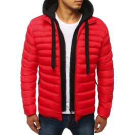 BASIC Červená prošívaná bunda (tx2847) Velikost: M