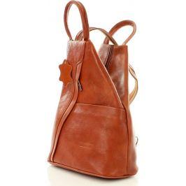 VERA PELLE Módní dámský batoh camel MORENA CLASSIC (pl2g) Velikost: univerzální