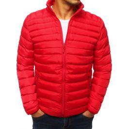BASIC Červená prošívaná bunda (tx2856) Velikost: M