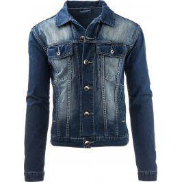BASIC Džínová bunda (tx1219) velikost: S, odstíny barev: modrá