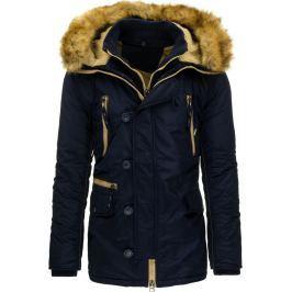 BASIC Pánská modrá zimní bunda (tx1455) velikost: 2XL, odstíny barev: modrá