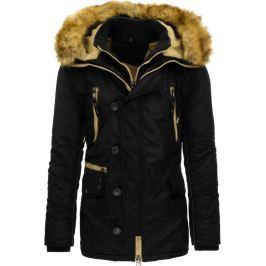 BASIC Pánská černá zimní bunda (tx1492) velikost: 2XL, odstíny barev: černá