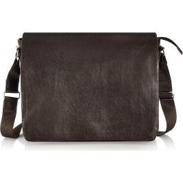 SOLIER Pánská kvalitní hnědá taška přes rameno (S11 BROWN) Velikost: univerzální
