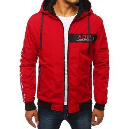 BASIC Červená bunda s kapucí (tx2885) Velikost: M