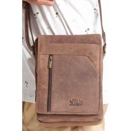 ALWAYS WILD Hnědá pánská taška 5747-TGH D.BROWN Velikost: univerzální