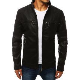 BASIC Černá koženková bunda se zipy (tx2878) Velikost: M