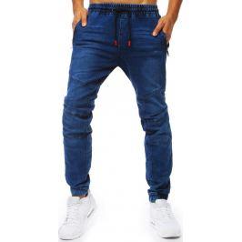 BASIC Modré jogger kalhoty s červenými detaily (ux2013) Velikost: M