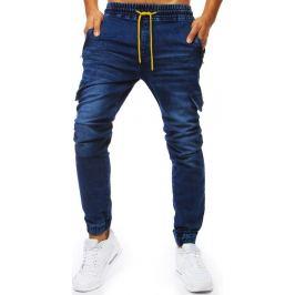 BASIC Modré džínové jogger kalhoty (ux2026) Velikost: M