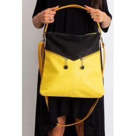BASIC Žlutá shopper kabelka 0009-2 Velikost: univerzální