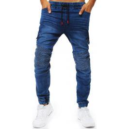 BASIC Pánské modré džínové kalhoty (ux2019) Velikost: M