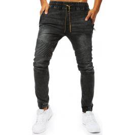 BASIC Pánské černé džínové kalhoty (ux2023) Velikost: M