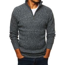 BASIC Pánský šedý svetr (wx1283) Velikost: M