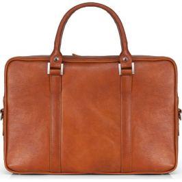 SOLIER Hnědá kožená taška na notebook (SL25 VINTAGE BROWN) Velikost: univerzální